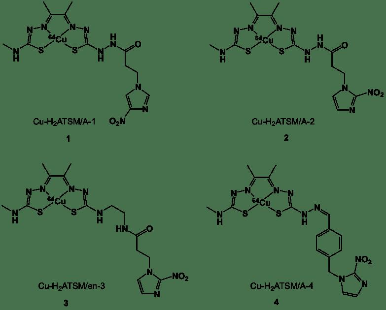 Figure 4. 64Cu-bisthiosemicarbazone nitroimidazoles.