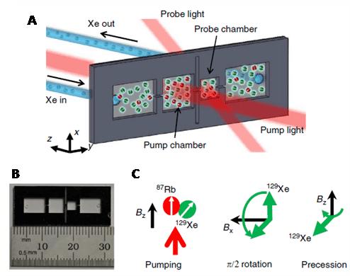 Figure 23. A microfluidic chip 129Xe polariser.