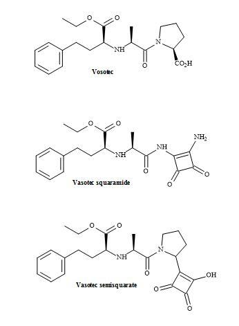 Figure 44. Vasotec and squaryl vasotec